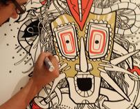 """""""Totem"""" wall drawing"""