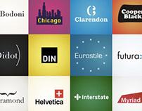 20 typeface logos (2010)