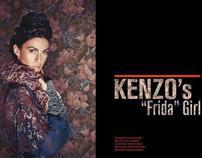 """Kenzo's """"Frida"""" Girl--Velvet Magazine"""