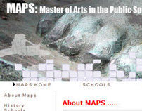 MAPS: Master of Arts in the Public Sphere website