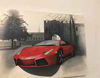 Lamborghini Oil Paint.