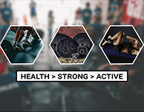 Fitness Facebook Cover Page