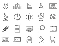 20 College Vector Icons