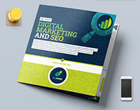Tri-Fold Brochure Template for SEO & Digital Marketing