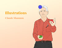 Illustrations of Claude Shannon - CNRS Project