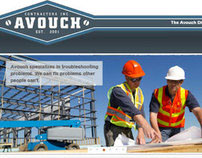 Avouch Contractors Website Template