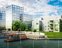 Apartment block in Berlin suburbs