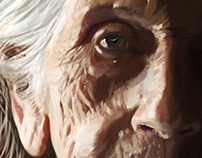"""Grandmother"" ""Abuela"" | Digital Painting"