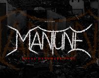 Mantune Death Metal Font