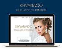 Корпоративный сайт студии красоты KHVANACO в Москве