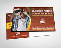 Barber Postcard Template