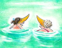 Le bagnanti