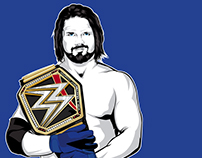 Tribute illustration of AJ Styles