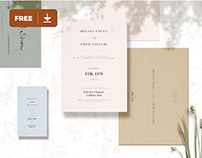 Wedding Card Mockup Freebie
