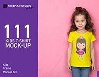 111 Kids T-Shirt Mock-Up