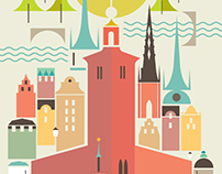 Stockholm - Personal project for my Etsy Printshop