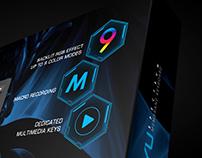 Gaming Keyboard Package design