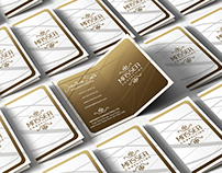 Folded Gold And White Business Card