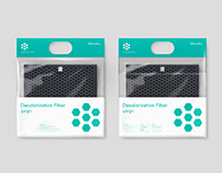 Coway Air Purifier Filter Packaging Design