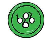 Logo Design - Bright Green Button