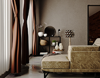 Cozy interior Design of a Bedroom