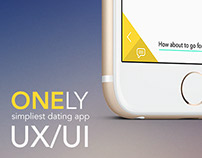 ONELY. Most simple & handy dating app concept
