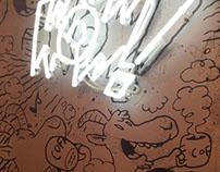 Novotel WiseCafe wall