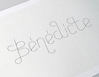 Bénédicte - band lettering