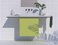 Bathroom cubes in colors Groovy Parts