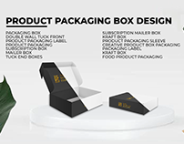 Perfect packaging box design with die cut & 3D BOX