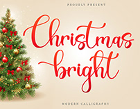 Free Christmas Bright Calligraphy Font