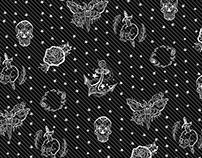 Flash Tattoo Punk Pattern