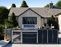 ProFresco - Outdoor Kitchen 3d renderings
