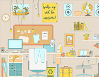 La habitación de un diseñador