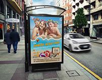 Summer Beach Poster Template