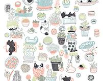 Personal Work 2016-插畫變印花/ illustration+pattern