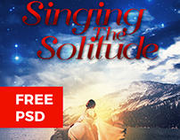 FREE PSD - Singing The Solitude - Book Cover