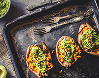 Sweet potato with guacamole