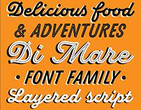 Di Mare Typefamily — script with layers