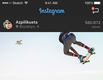 Instagram App UI  Re-design