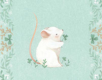 ☘Sláinte - St. Patricks mouse illustration ☘