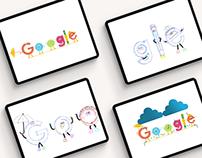Google doodle - A rainy day