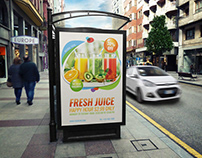 Fresh Juice Poster Template