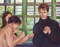 A scene from behind-the-scenes (illustration)