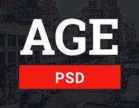 AGE - Material Design Magazine Blog PSD Template