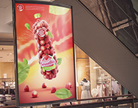 Strawberrie juice packshot