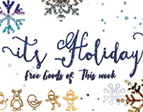 It's Holiday Font Free Goods Of This Week