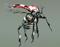 Design, Modeling, Texture: Beetle Monster