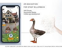Navigation app with AR and Text-to-Speech