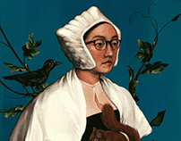 Self Portrait as Lady w Squirrel (master study)